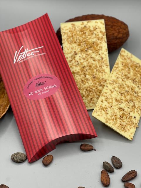Weisse BIO Schokolade Mit Krokant