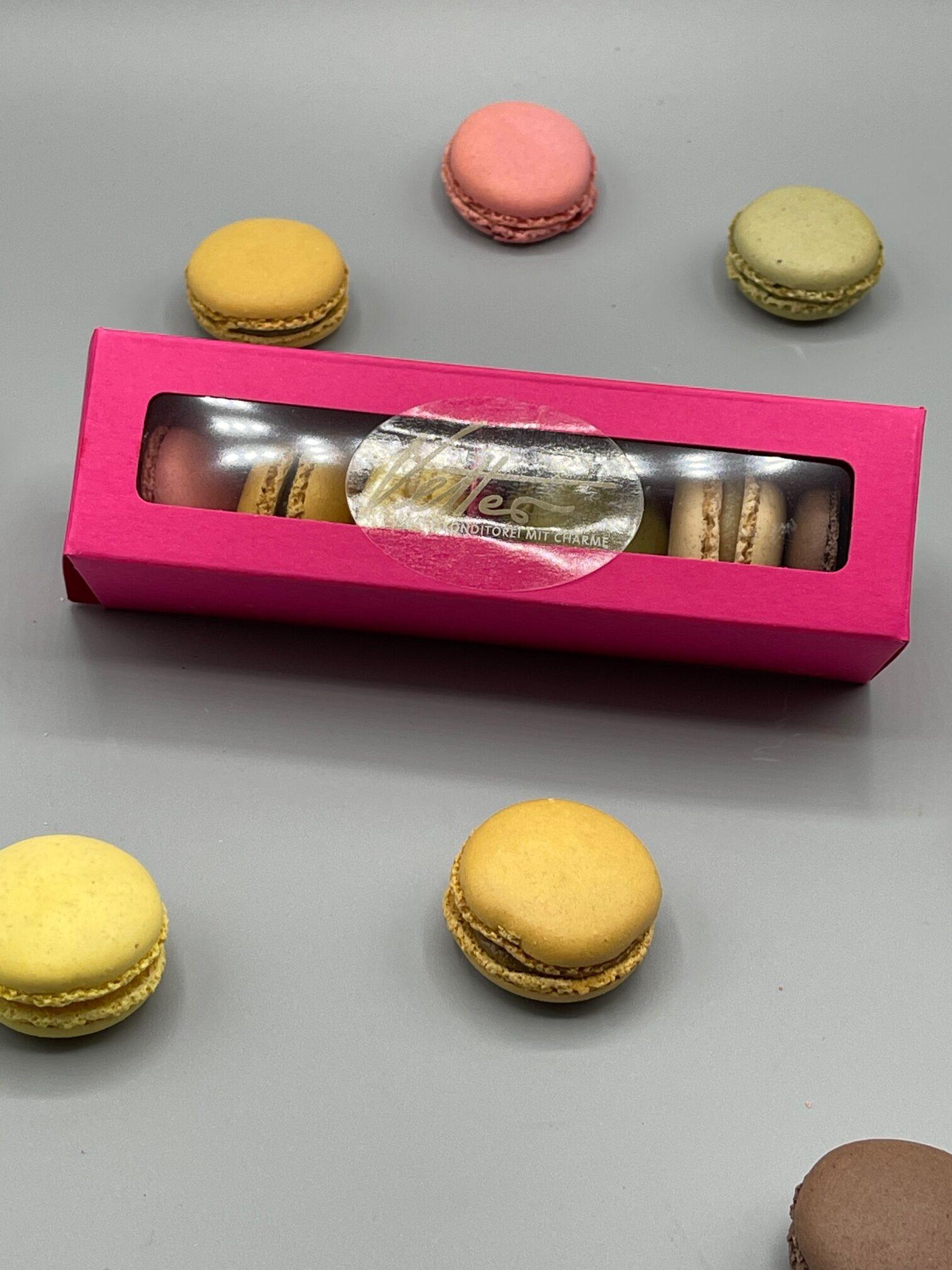 Feinste Macarons In Wunderschöner Präsentverpackung 6 Stück